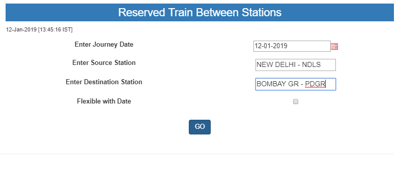 Reserved Trains Between Stations-1