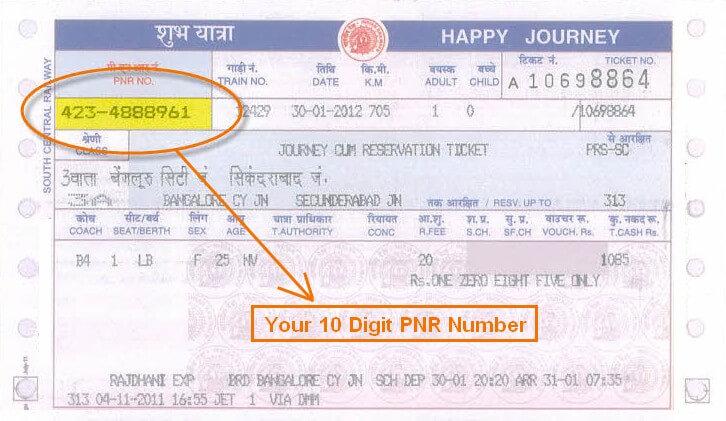 PNR Status 1