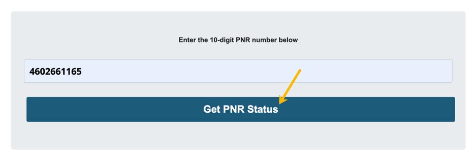 PNR Status 2